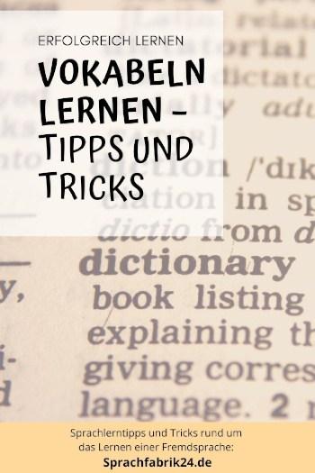 Pinterest Vokabeln lernen Tipps und Tricks