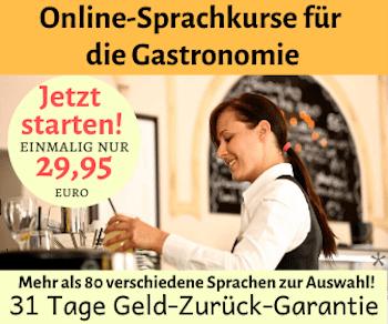 Onlinesprachkurs für die Gastronomie
