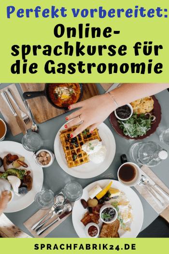 Onlinesprachkurse fuer die gastronomie pinterest